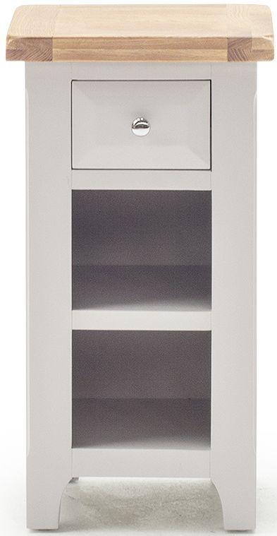 innovative design 077d4 5006f Vida Living Clemence Grey Painted 1 Drawer Telephone Table